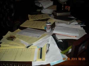 a desk disaster